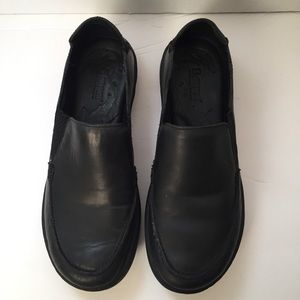 Women's Born Black Leather Loafers Flats Size 6.5